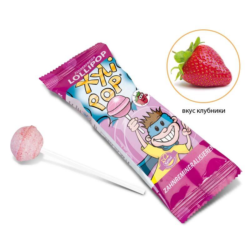 Xylipop -леденец с ксилитом со вкусом клубники, miradent® (1 штука)